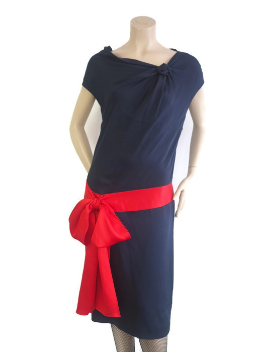 Dress ALEXANDER MCQUEEN Blue Silk Size L