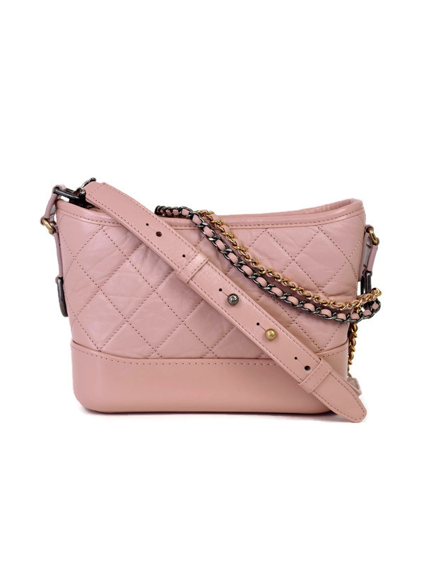 Bag CHANEL Gabrielle Hobo Small Pink Calfskin