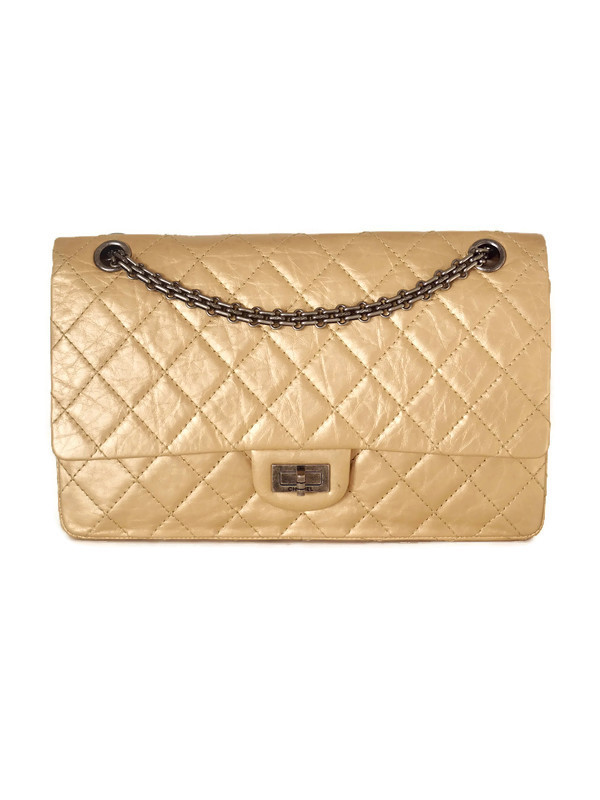 Bag CHANEL 2.55 Reissue Gold Calfskin Ruthenium Hardware 226