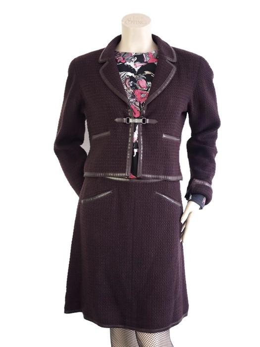 Suit CHANEL Bordeaux Size M