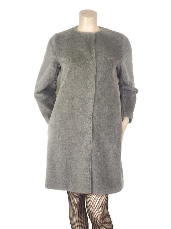 Coat MAX MARA Grey Faux Fur Size S