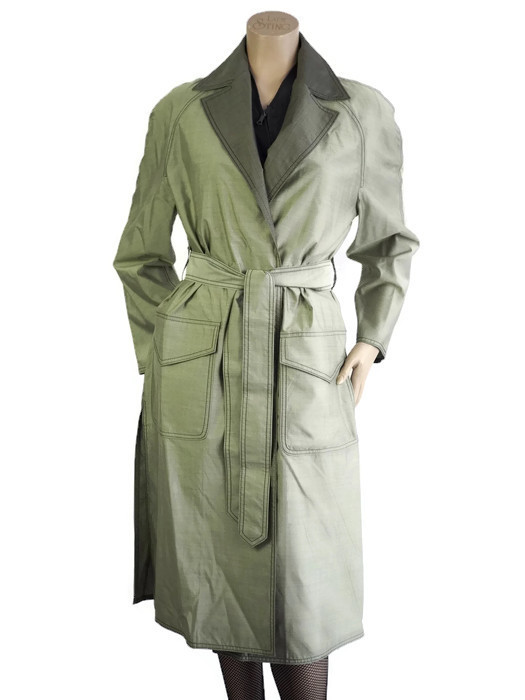 Trench coat VALENTINO Green Size L