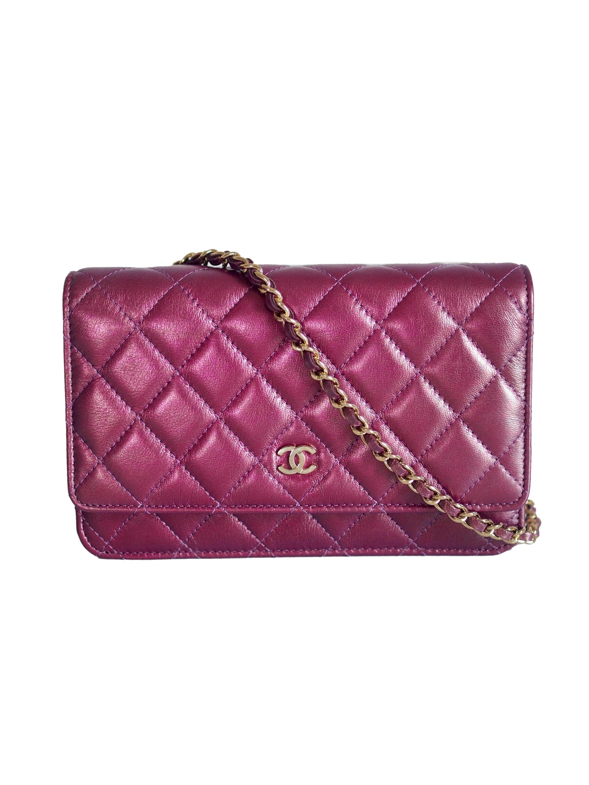 Bag CHANEL WOC Purple Iridescent Lambskin GHW