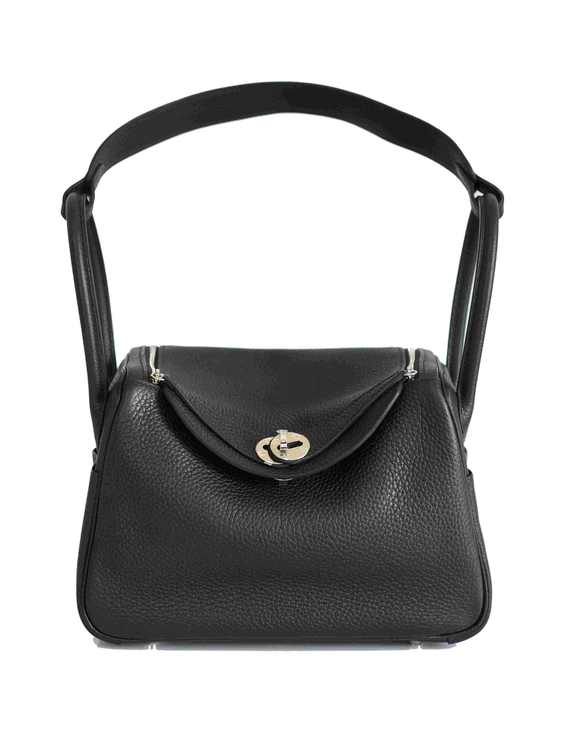 Bag HERMES Lindy 26 Taurillon Clemence Noir PHW