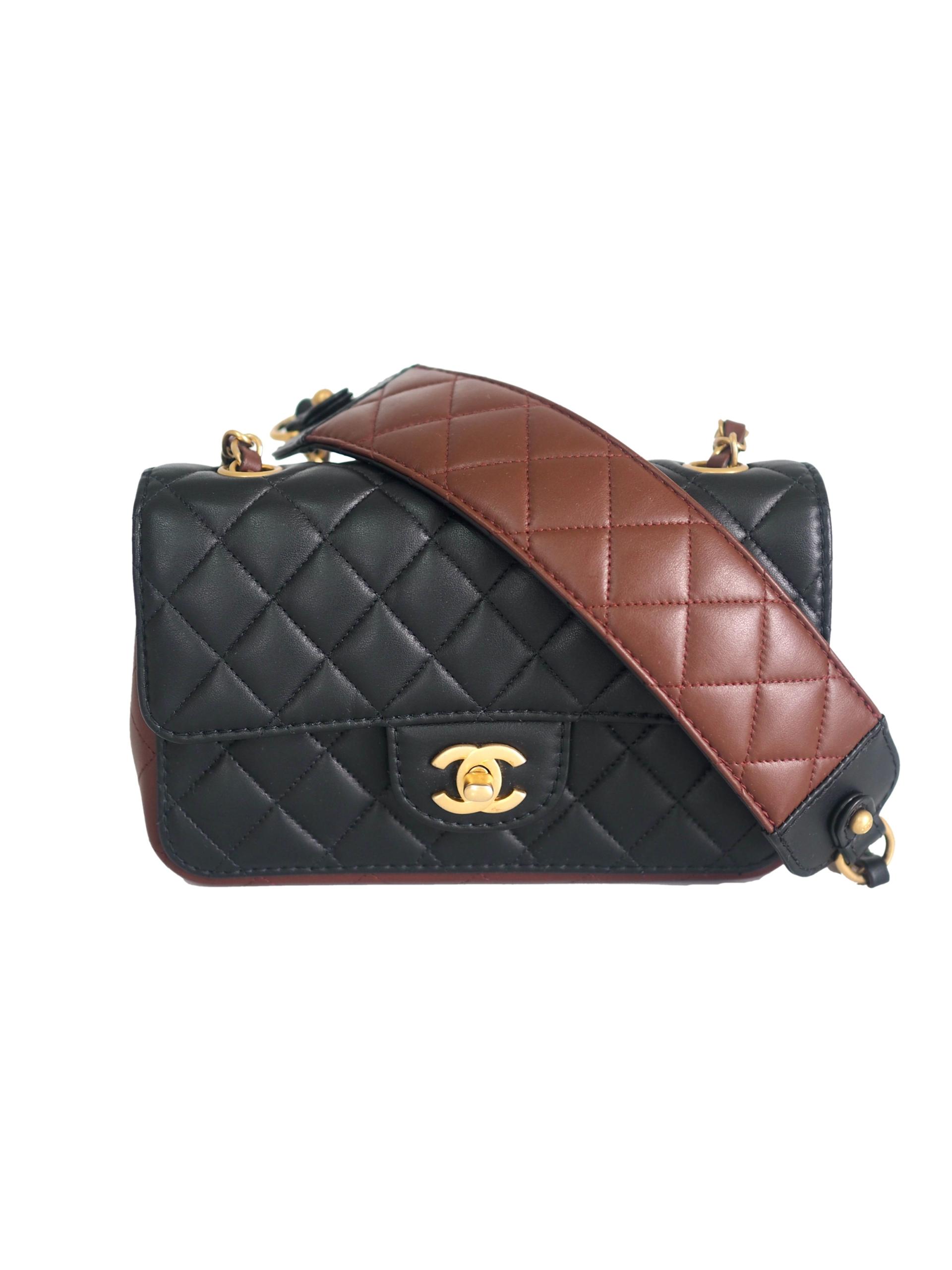 Bag CHANEL Rumway Mini Rectangular Two-tone Lambskin GHW