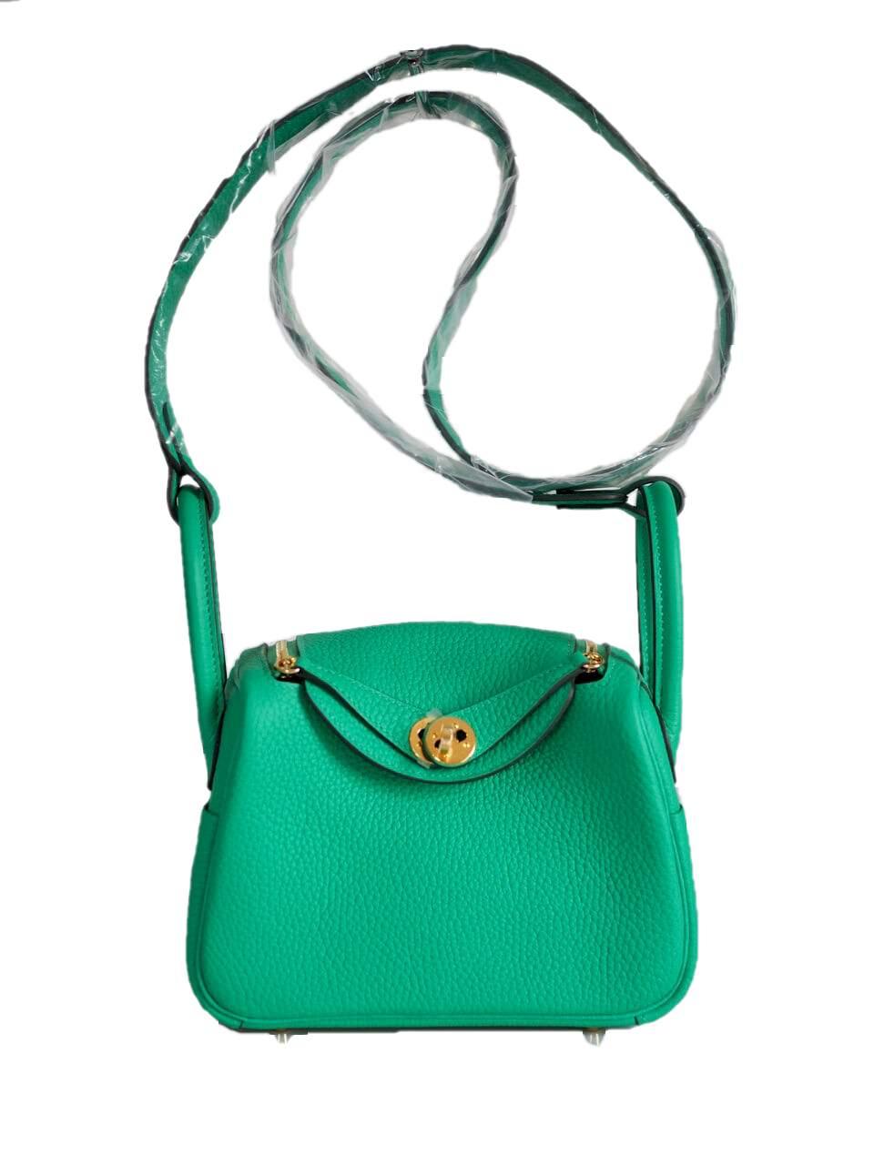 Bag HERMES Lindy 20 Mini Clemence Menthe GHW